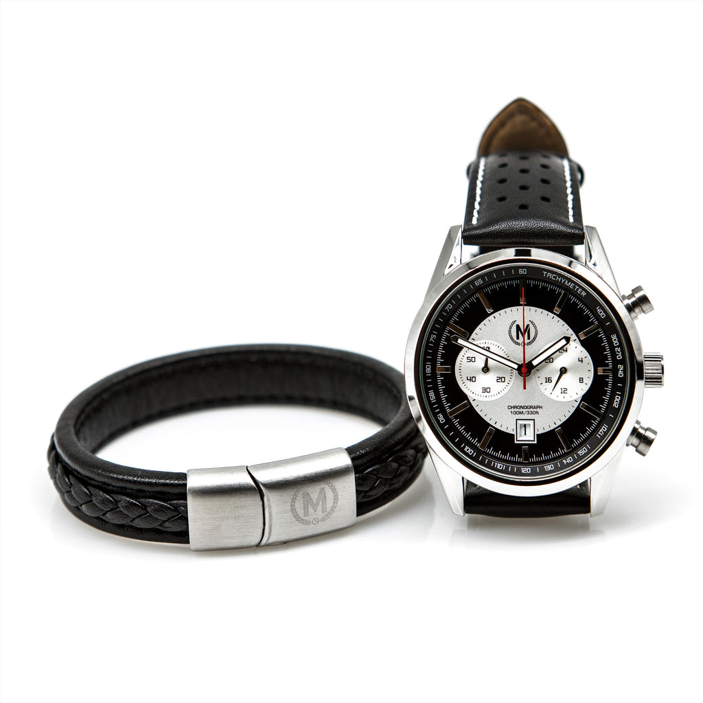 genuine leather band, retro leather bracelet with stainless steel buckle