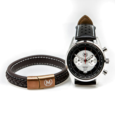 Brown and Bronze Marchand Leather Bracelet - Marchand Watch Company