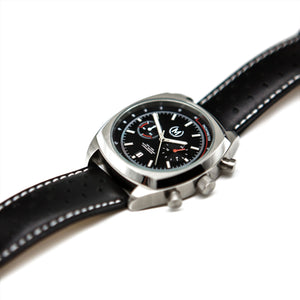 BLACK AND SILVER LMP CHRONO, BLACK STRAP