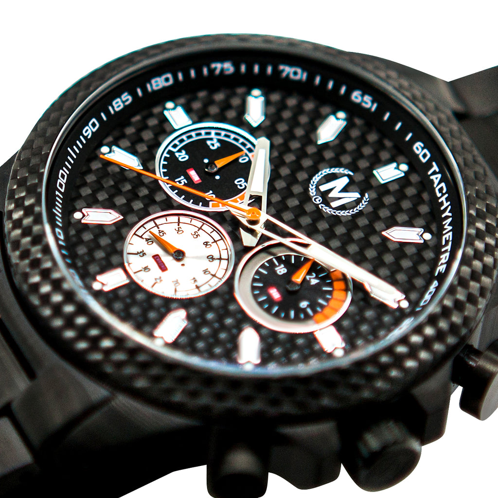 CARBON AND BLACK 'CARBON GT' (PRE-ORDER, FUTURE RRP £325) - Marchand Watch Company