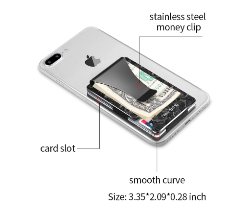 SLIM ABSTRACT TEXTURE CARBON FIBRE CARD HOLDER RFID BLOCKING WALLET - Marchand Watch Company