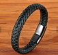 BLACK AND GREEN LEATHER BRACELET, 21CM - Marchand Watch Company