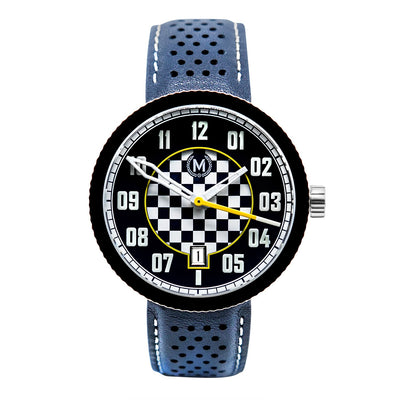 BLUE AND WHITE AUTOMATIC LEGACY - Marchand Watch Company
