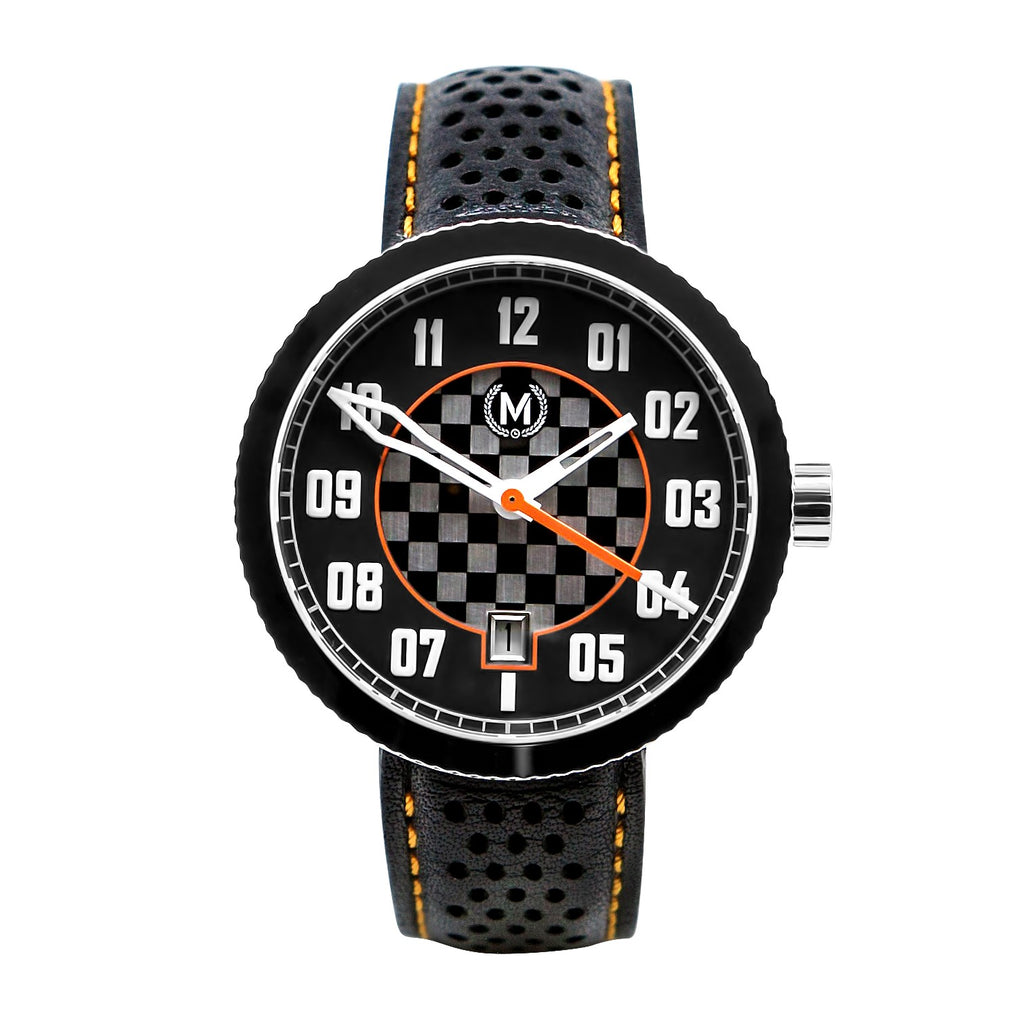 BLACK AND ORANGE AUTOMATIC LEGACY (20% OFF WITH CODE 'FATHER') - Marchand Watch Company