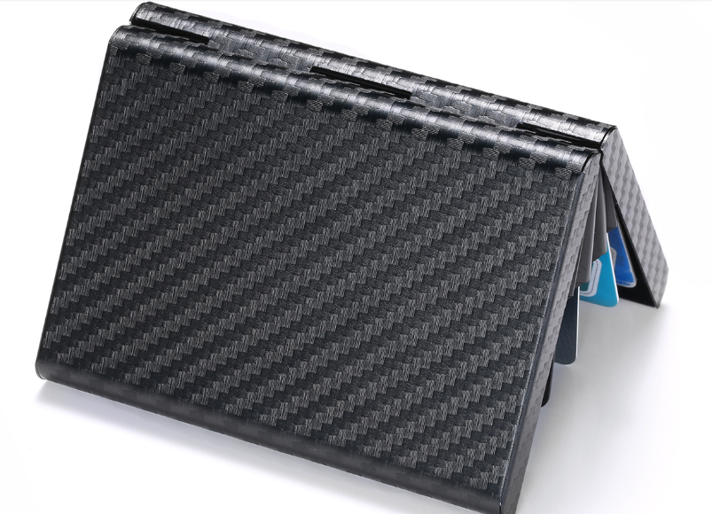 CARBON FIBRE RFID BLOCKING METAL WALLET METAL CARD HOLDER - TRAVEL WALLET - Marchand Watch Company
