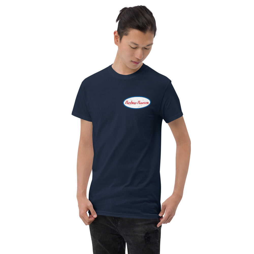 RETRO RACER SMALL LOGO T-SHIRT, NAVY