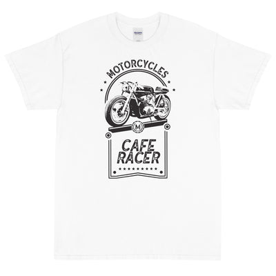 CAFE RACER SHORT SLEEVE T-SHIRT, WHITE
