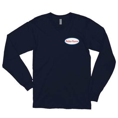RETRO RACER SMALL LOGO LONG SLEEVE T-SHIRT, NAVY