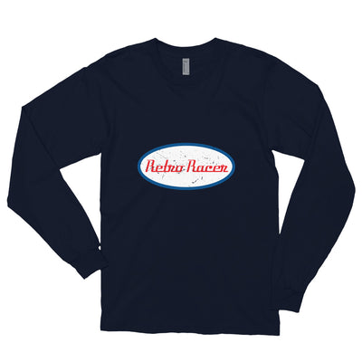 RETRO RACER LONG SLEEVE T-SHIRT, NAVY