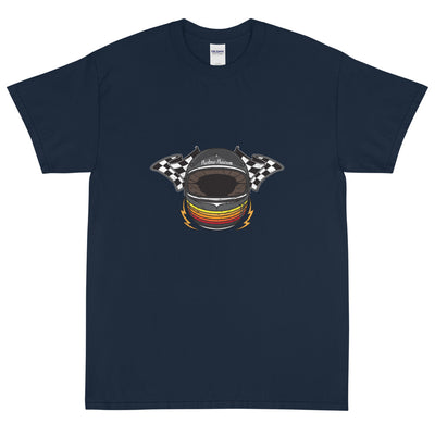 RETRO HELMET SHORT SLEEVE T-SHIRT, NAVY