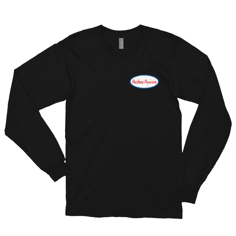 RETRO RACER SMALL LOGO LONG SLEEVE T-SHIRT, BLACK