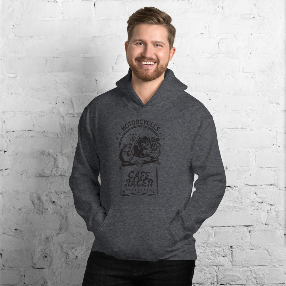 CAFE RACER UNISEX HOODIE, HEATHER GREY