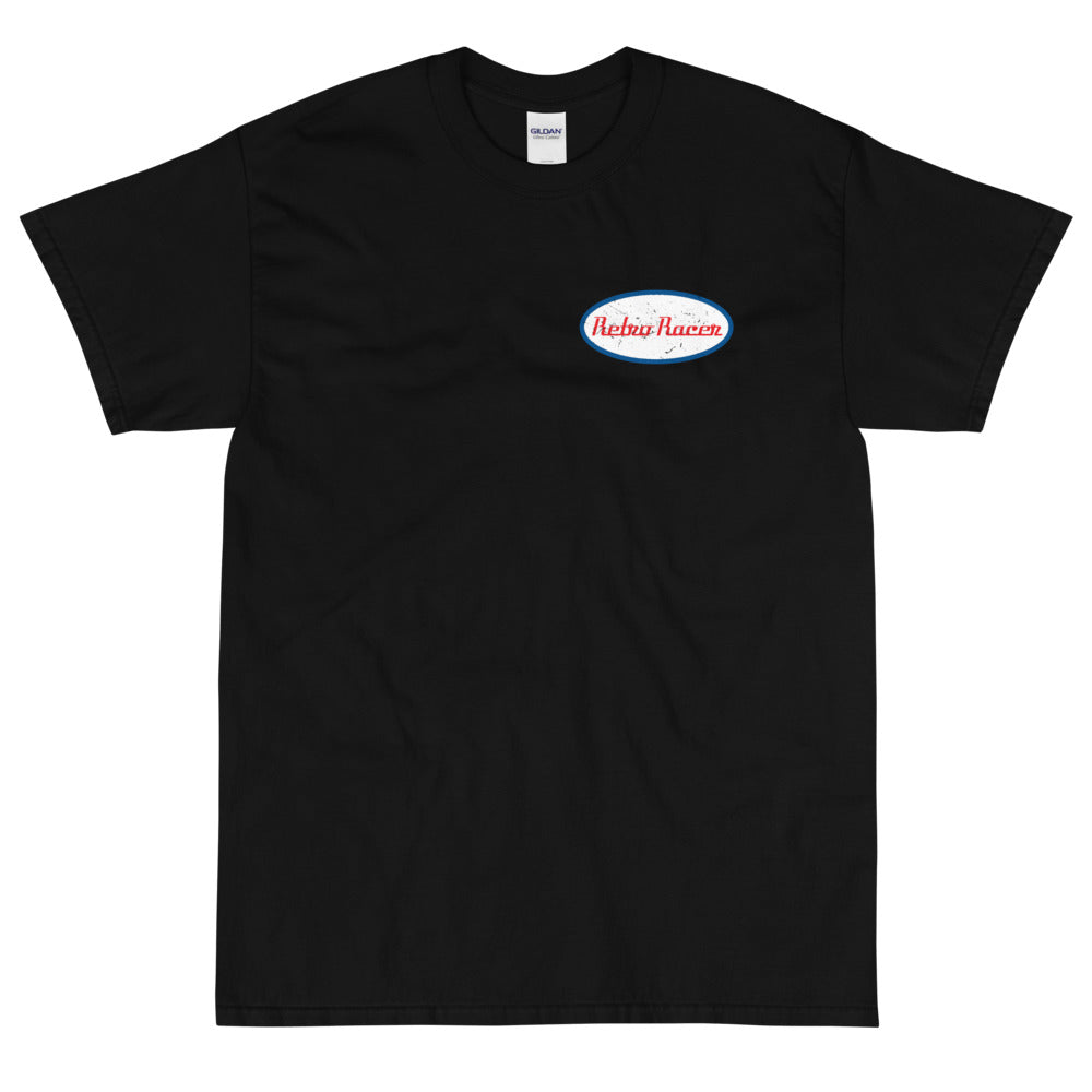 RETRO RACER SMALL LOGO T-SHIRT, BLACK