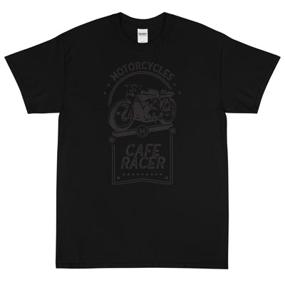 CAFE RACER SHORT SLEEVE T-SHIRT, BLACK