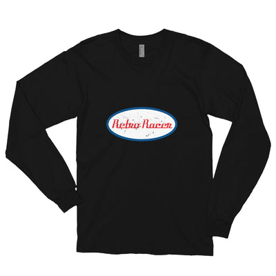 RETRO RACER LONG SLEEVE T-SHIRT, BLACK