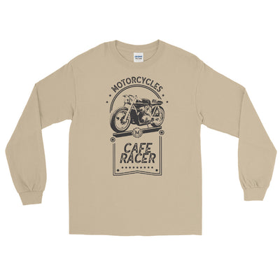 CAFE RACER MEN'S LONG SLEEVE T-SHIRT, SAND