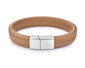 KHAKI BRAIDED LEATHER BRACELET, SILVER CLASP (20.5CM) - Marchand Watch Company