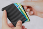 CARBON FIBRE RFID BLOCKING CARD HOLDER WALLET FOR MEN