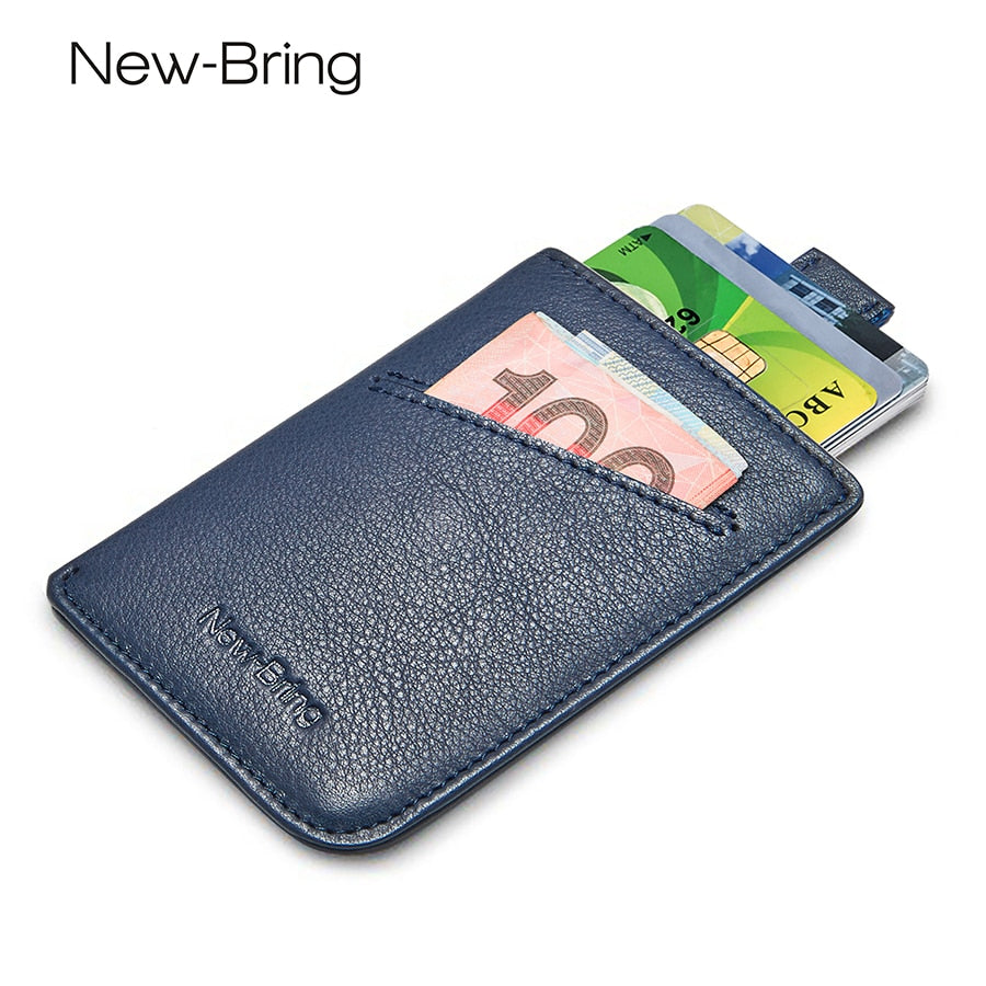 SLIM LEATHER MEN'S CREDIT CARD HOLDER/WALLET