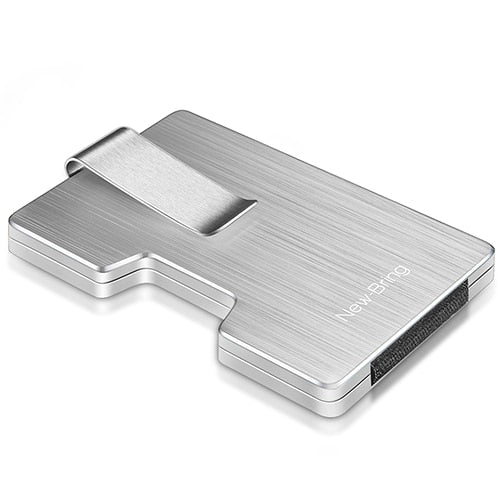 METAL CREDIT CARD HOLDER WITH RFID BLOCKING FEATURE WALLET