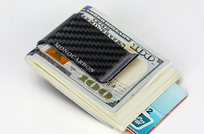 MONOCARBON CARBON FIBRE MONEY CLIP CLAMP FOR MONEY