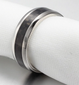 MEN'S SILVER AND CARBON FIBRE RING - Marchand Watch Company