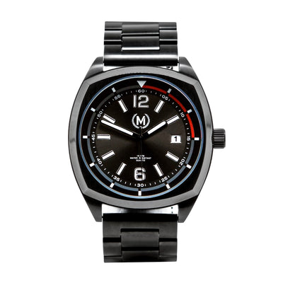 BLACK DRIVER, METAL STRAP - Marchand Watch Company