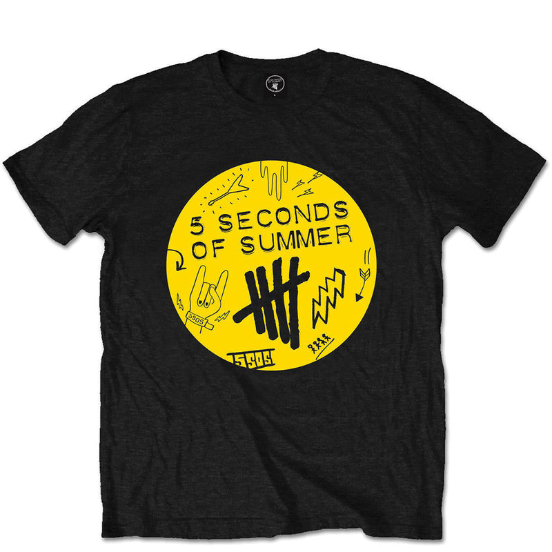 5 Seconds Of Summer Scribble Logo Men's Tee - NME Merch
