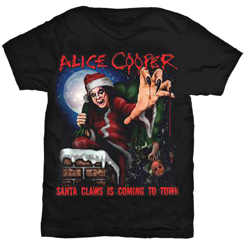 Alice Cooper Santa Claws Christmas Men's Tee