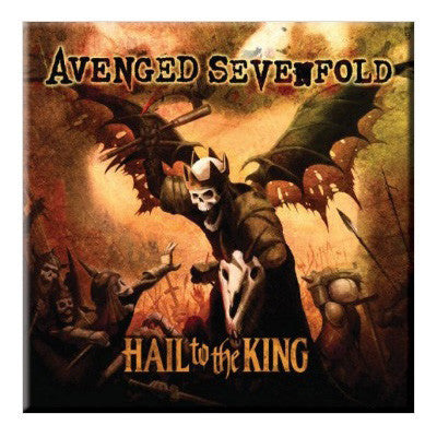 Avenged Sevenfold Hail To The King Fridge Magnet - NME Merch
