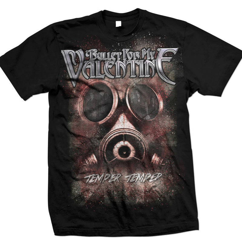 Bullet For My Valentine Temper Temper Gas Mask Men's T-Shirt - NME Merch