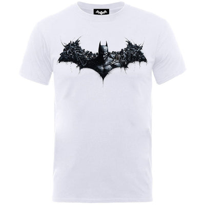 DC Batman Arkham Origins Shield Men's T-Shirt - NME Merch