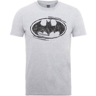 DC Batman Sketch Logo Men's T-Shirt - NME Merch