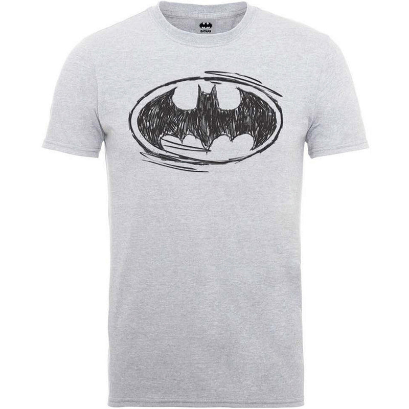DC Batman Sketch Logo Men's T-Shirt