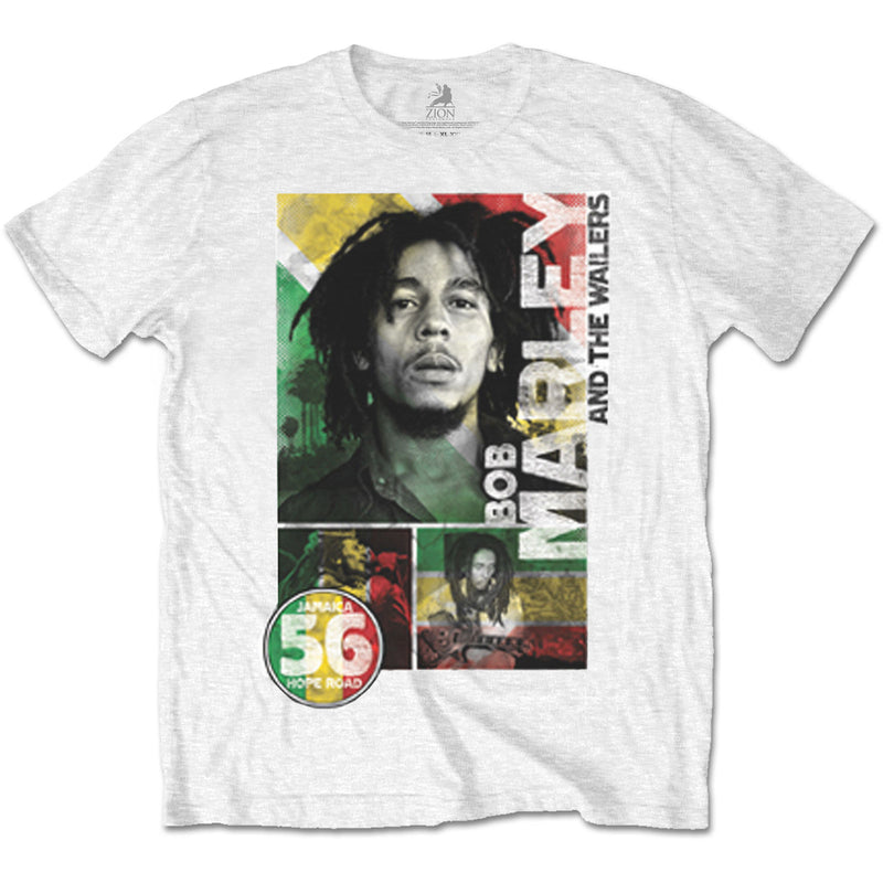 Bob Marley Men's Tee: 56 Hope Road Rasta - NME Merch