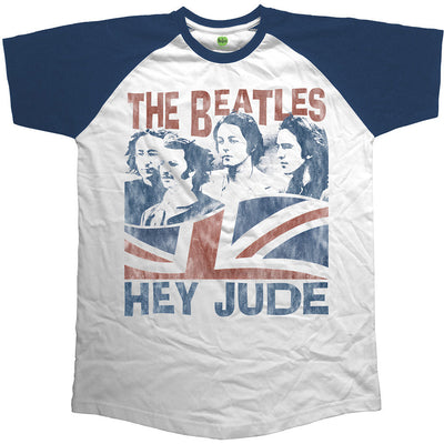 The Beatles Hey Jude Raglan Men's T-Shirt - NME Merch