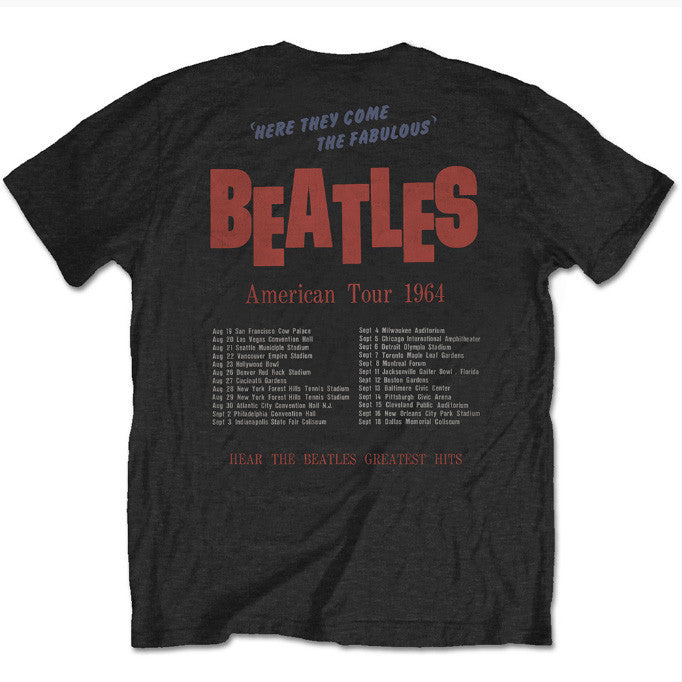 The Beatles Special Edition Tours That Rocked The World: American Tour 1964 Men's T-Shirt - NME Merch