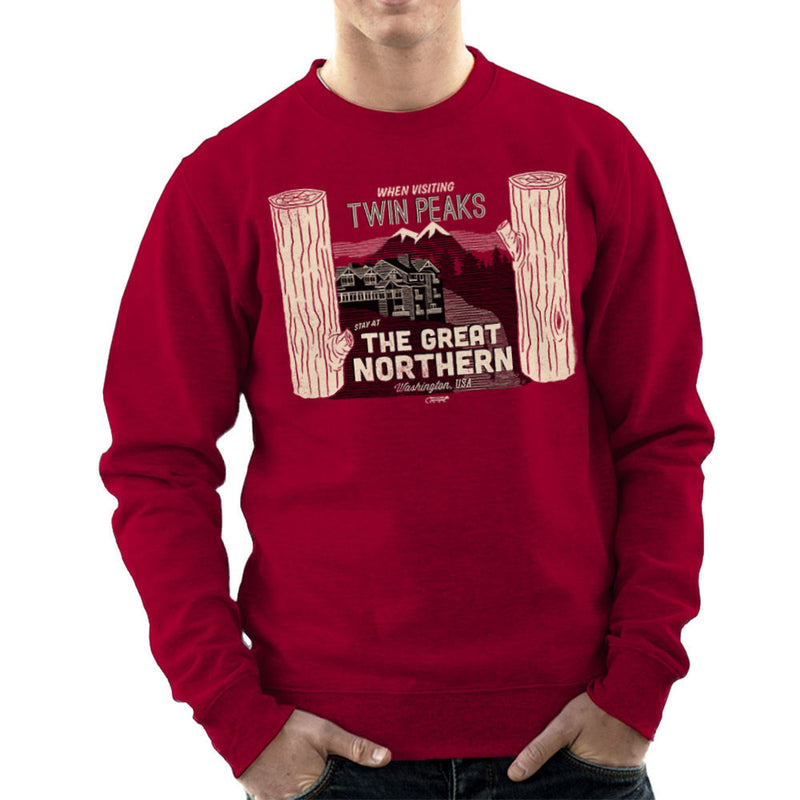 Inspired By Twin Peaks Stay at the Great Northern Men's Sweatshirt - NME Merch