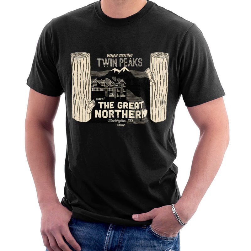 Inspired By Twin Peaks Stay at the Great Northern Men's T-Shirt - NME Merch