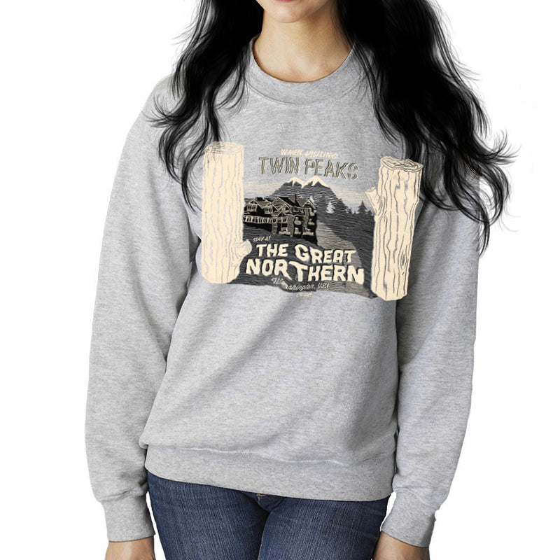 Inspired By Twin Peaks Stay at the Great Northern Women's Sweatshirt - NME Merch