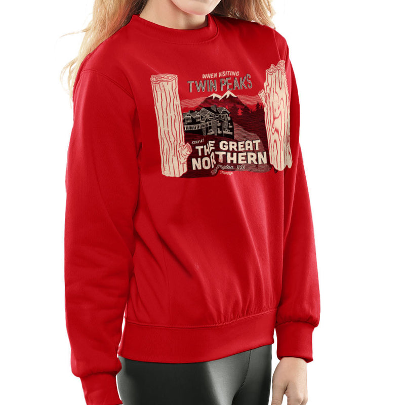 Inspired By Twin Peaks Stay at the Great Northern Women's Sweatshirt