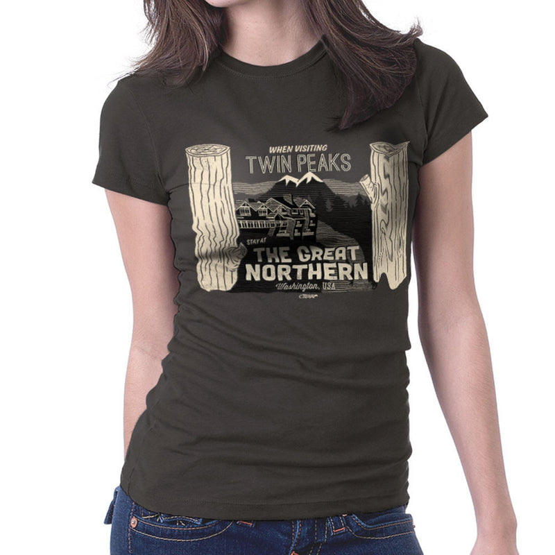 Inspired By Twin Peaks Stay at the Great Northern Women's T-Shirt - NME Merch
