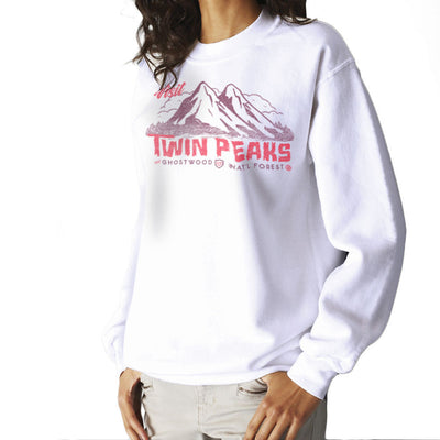 Visit Inspired By Twin Peaks and Ghostwood National Forest burgundy Women's Sweatshirt - NME Merch