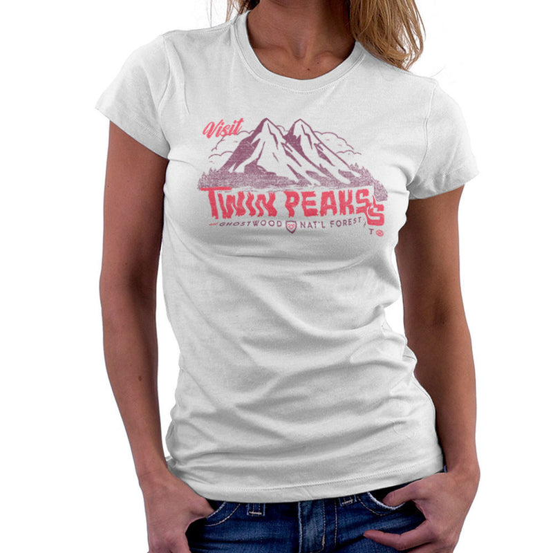 Visit Inspired By Twin Peaks and Ghostwood National Forest burgundy Women's T-Shirt - NME Merch