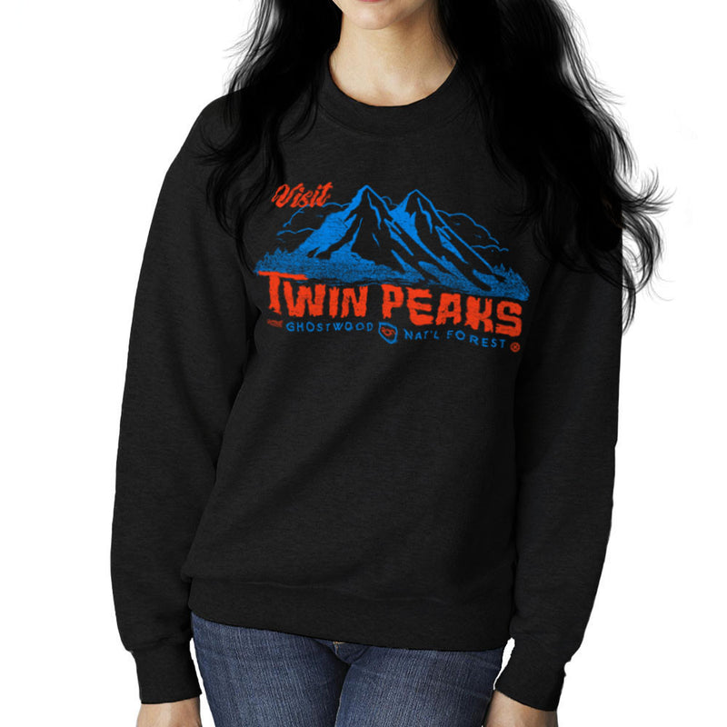 Visit Inspired By Twin Peaks and Ghostwood National Forest blue Women's Sweatshirt