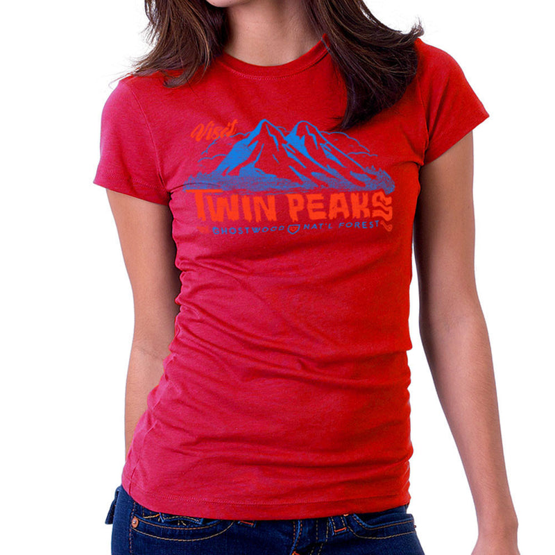 Visit Inspired By Twin Peaks and Ghostwood National Forest blue Women's T-Shirt - NME Merch