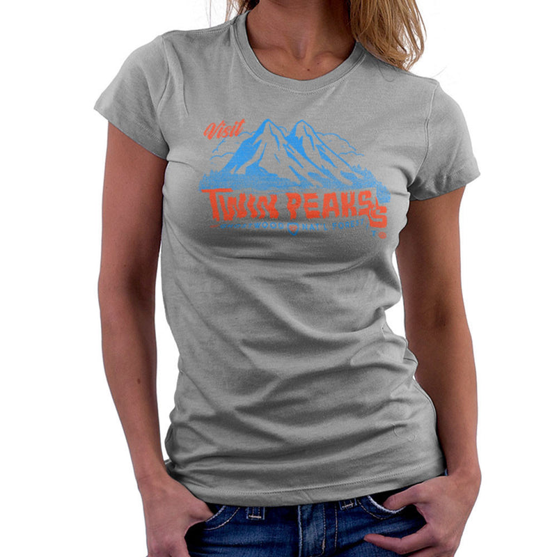 Visit Inspired By Twin Peaks and Ghostwood National Forest blue Women's T-Shirt