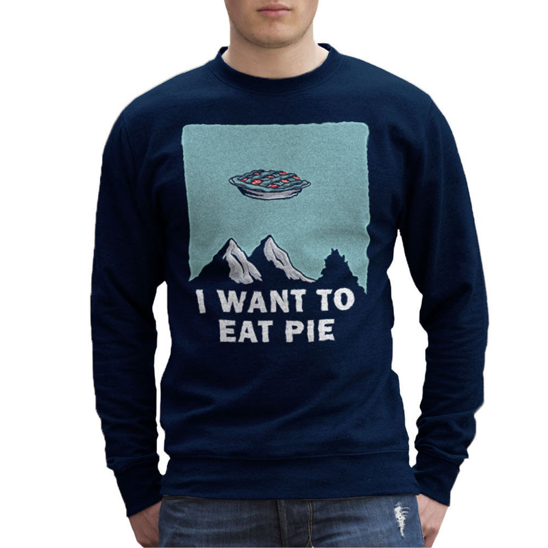 I Want to Eat Pie Inspired By Twin Peaks X Files Men's Sweatshirt - NME Merch