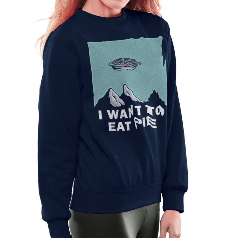 I Want to Eat Pie Inspired By Twin Peaks X Files Women's Sweatshirt - NME Merch