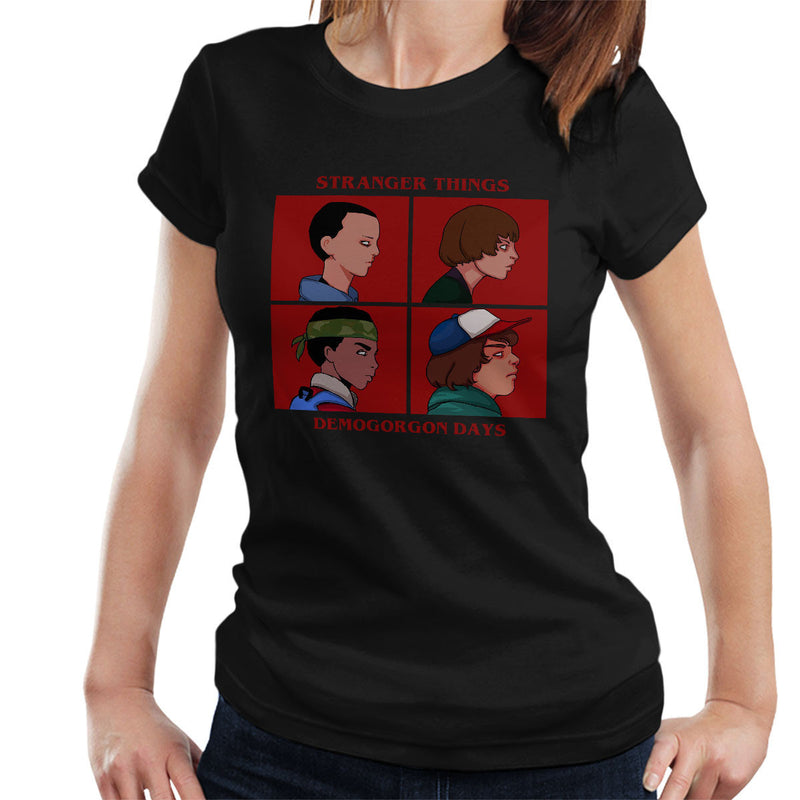 Stranger Things Demogorgon Days Gorillaz Women's T-Shirt - NME Merch